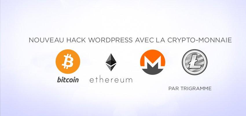 Nouveau hack WordPress avec l'extraction de la crypto-monnaie